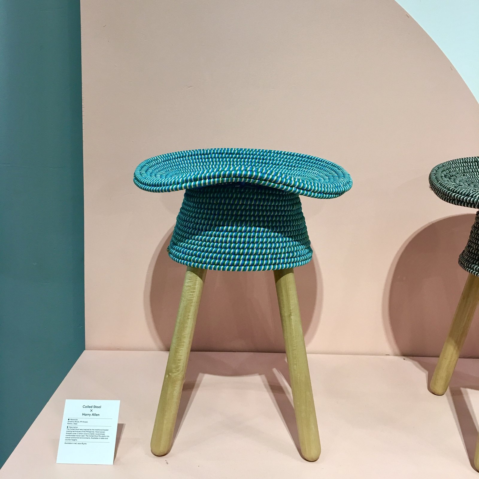 Umbra Shift presented a Coil stool designed by Harry Allen that's inspired by traditional basketweaving found in the Philippines.  Photo 3 of 36 in The Best of New York Design Week 2017