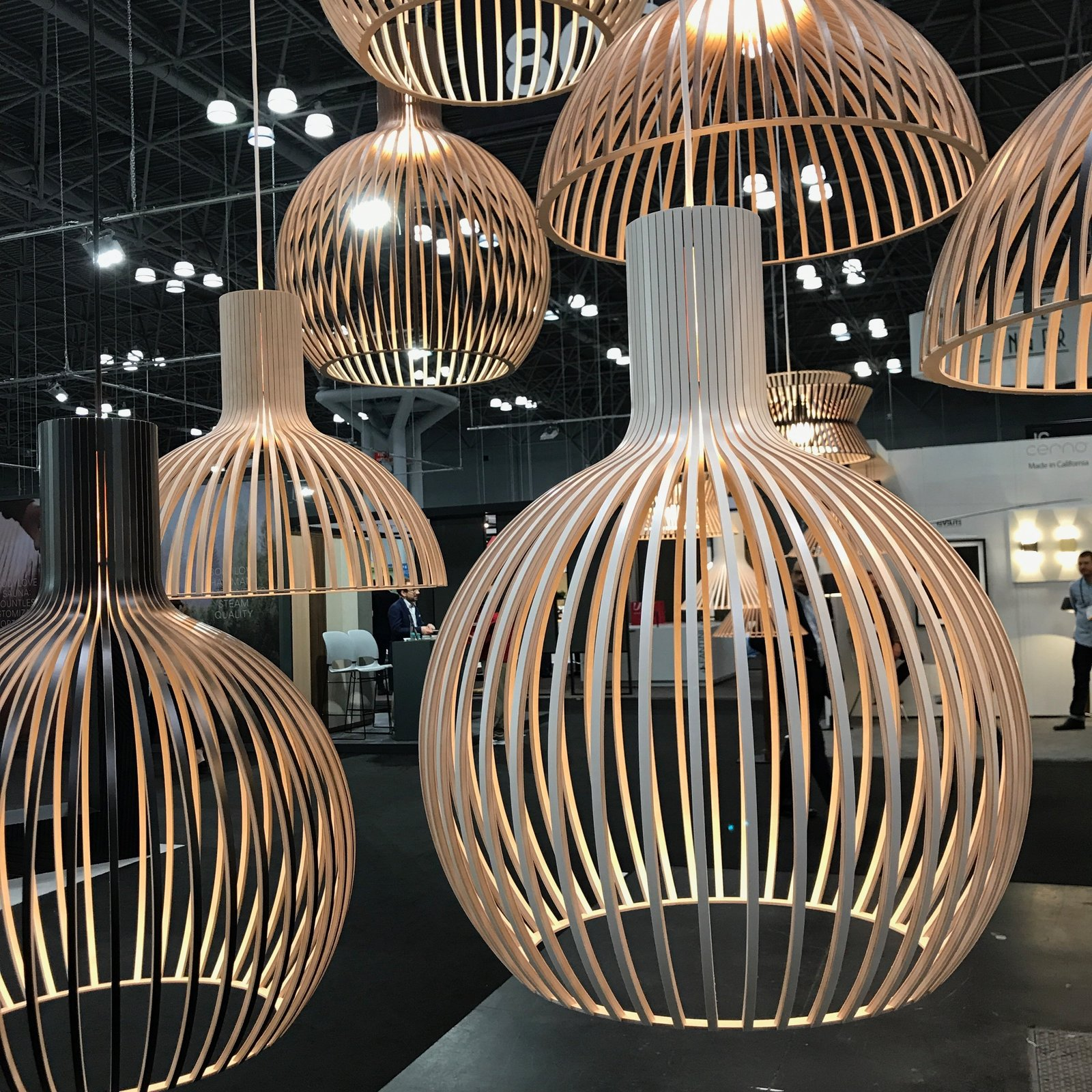 We were happy to see the US reintroduction of Secto Design's line of handcrafted Finnish lighting pieces made of Scandinavian birch. As of this week, the pieces will be stocked and distributed throughout the US via a Wisconsin warehouse. The entire collection is designed by Finnish architect Seppo Koho.  Photo 13 of 36 in The Best of New York Design Week 2017