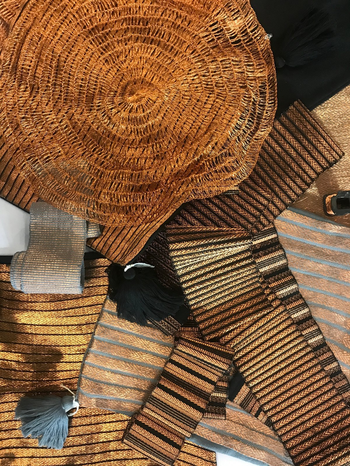 Lulu Mena, an El Salvador-based textile company, presented a recycled-copper textile. They make everything by hand using sustainable practices, working with local artisans.  Photo 16 of 36 in The Best of New York Design Week 2017