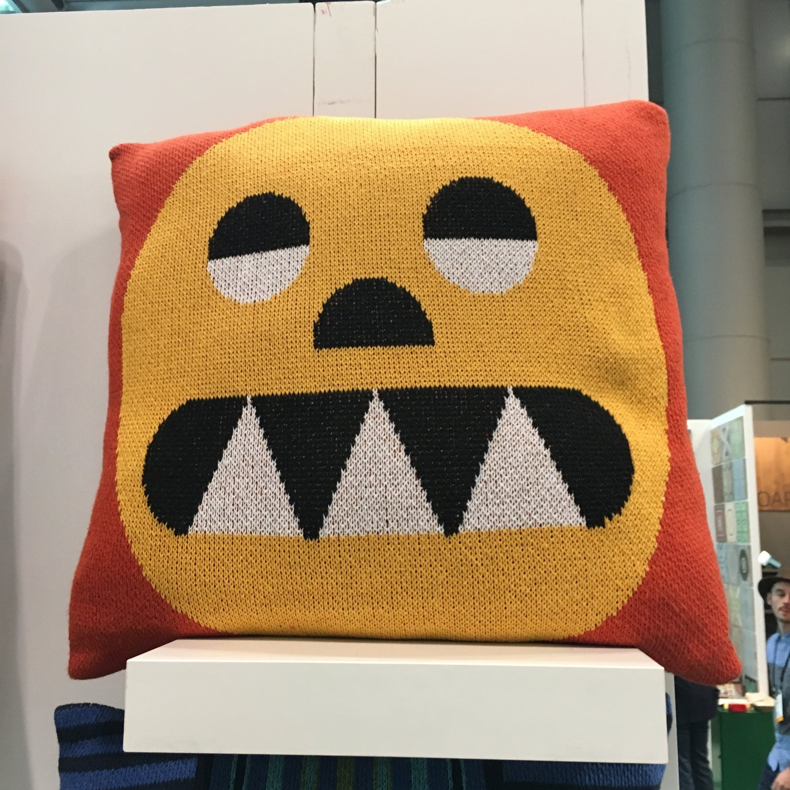DittoHouse displayed their pillows and blankets at the Milk Stand, which was ICFF's only stoppable area on the show floor. Led by designer Molly Fitzgerald, DittoHouse utilizes pre- and post-consumer textile waste for their products. They do not introduce new dyes, which eliminates water waste and chemical run-off. Everything is made in the USA.  Photo 17 of 36 in The Best of New York Design Week 2017