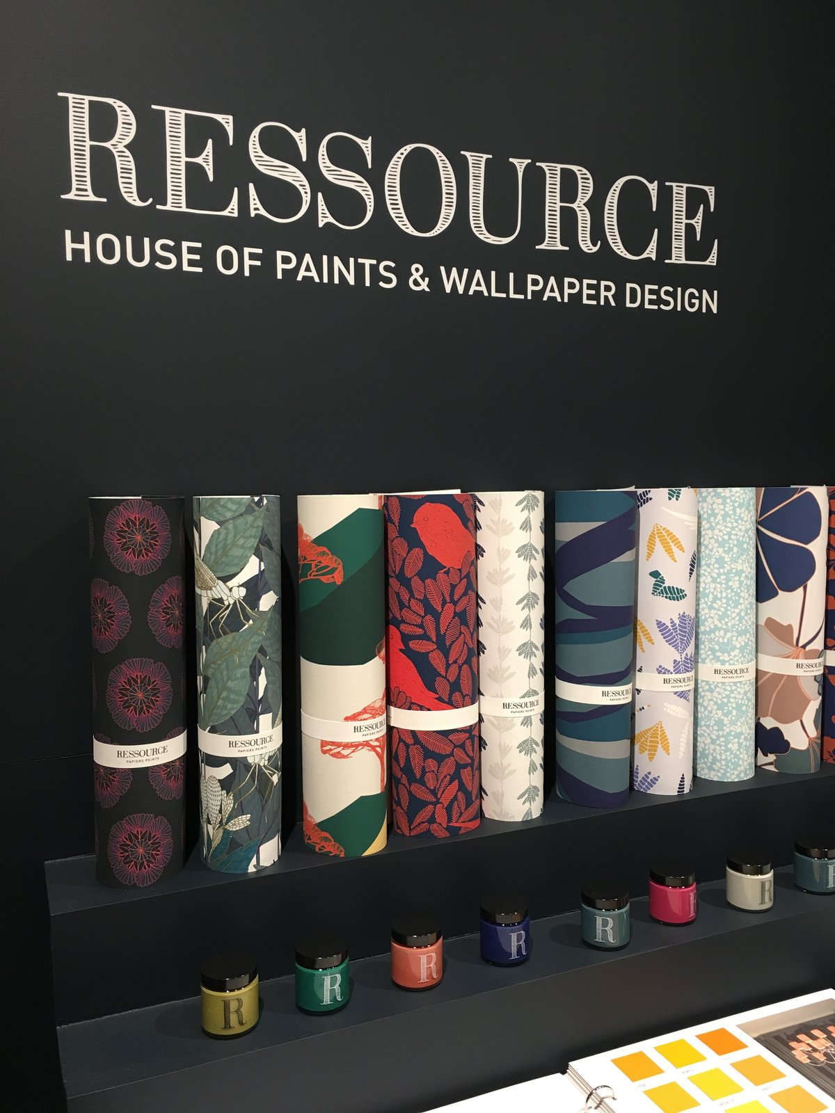 Ressource is a French company that's focused on bespoke wall coverings and paint. They employ an  Photo 35 of 36 in The Best of New York Design Week 2017