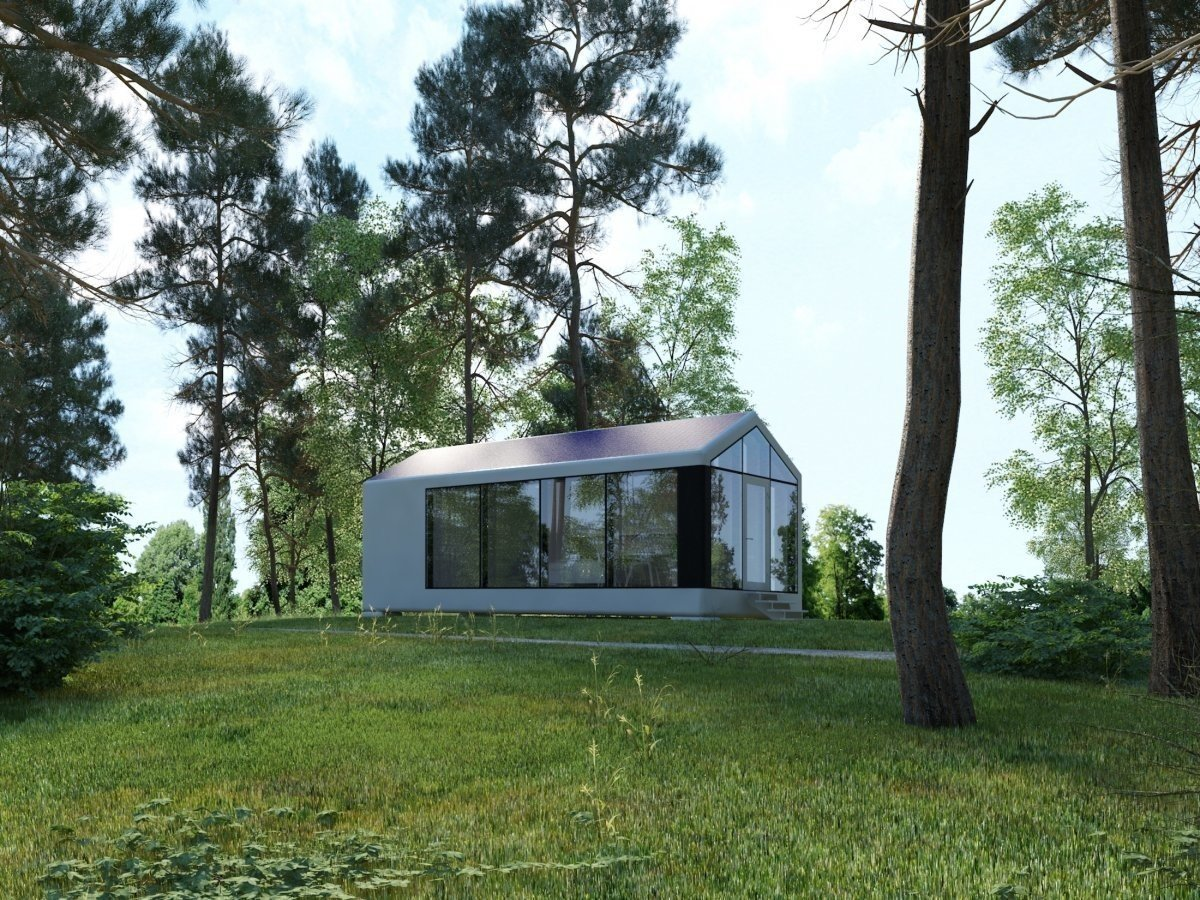 Trees, Front Yard, and Outdoor PassivDom claims that the homes stay completely insulated, whether it's in warm or Arctic conditions.  Photo 2 of 6 in This Zero-Energy Passive Mobile Prefab Was Partially 3D Printed