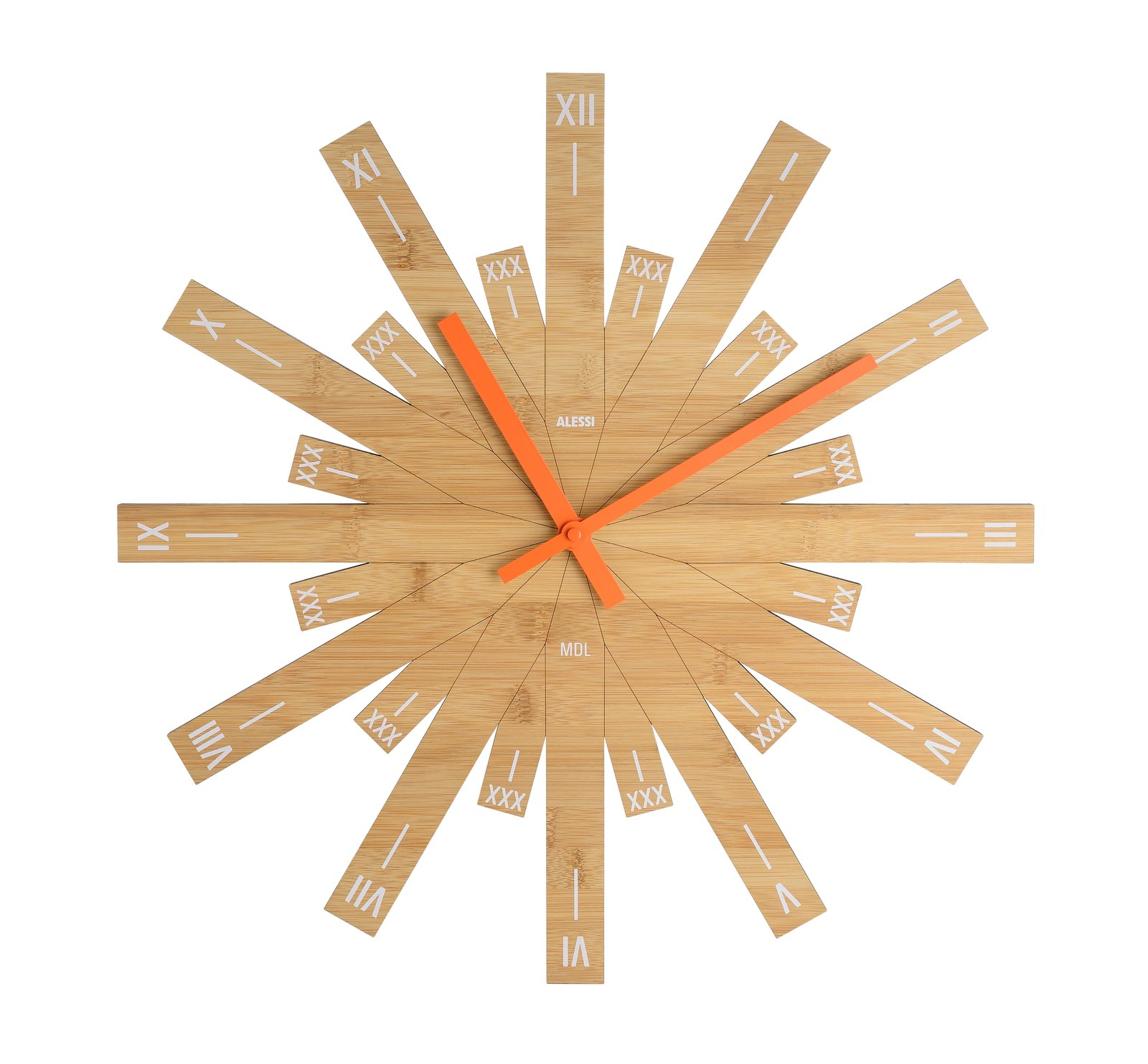 Raggiante, 2017.  A recent creation  for Italian manufacturer Alessi, this bamboo clock features Roman numerals and a distinctive form with a diameter of nearly  20 inches. alessi.com  Photo 9 of 14 in Michele De Lucchi