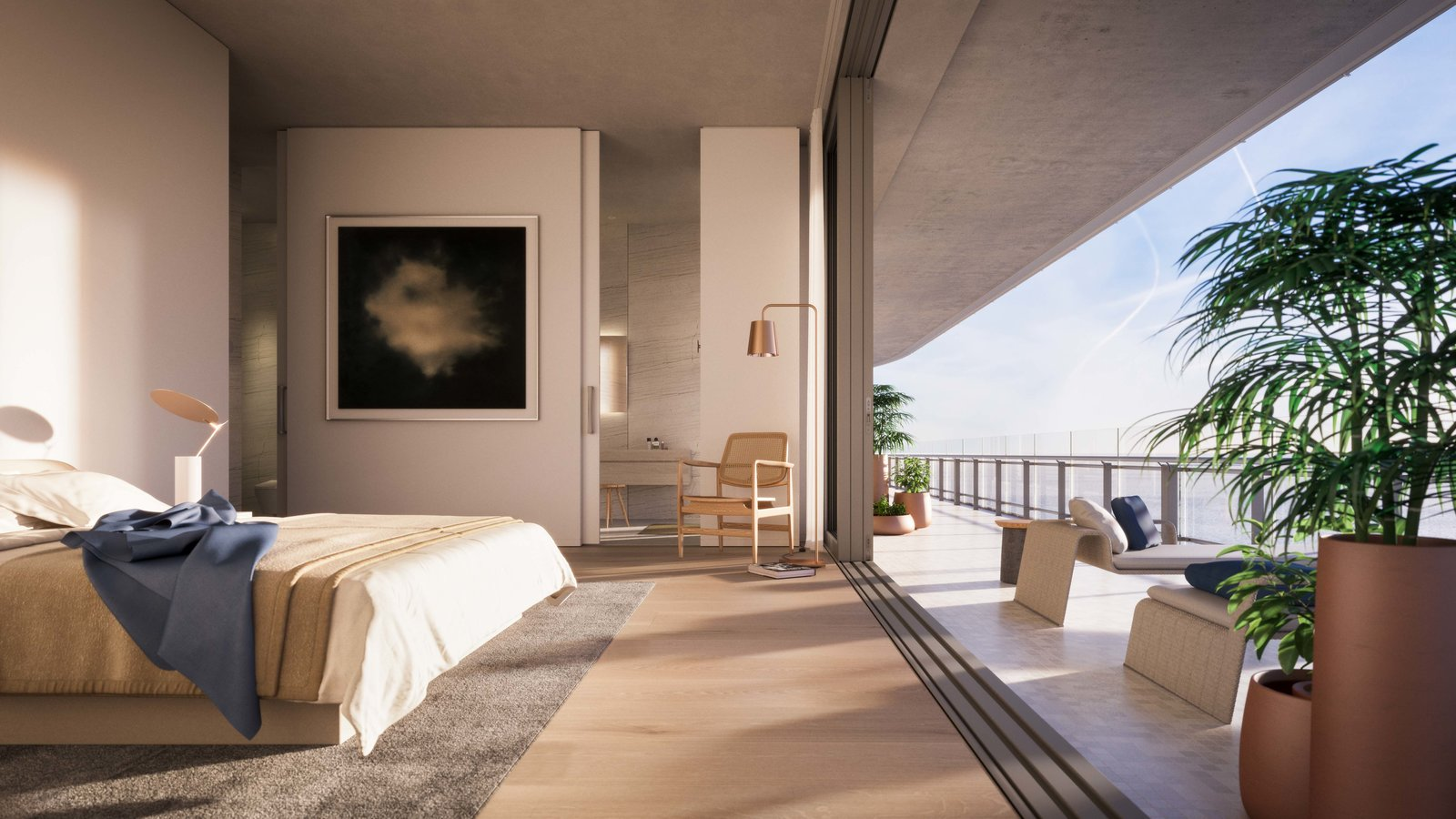 Inside, all the apartments were designed so that upon arrival, the resident is connected to the view of the ocean and Miami.  Photo 4 of 8 in Sneak Peek of Renzo Piano's New Stunning Oceanfront Condominiums in Miami's North Beach