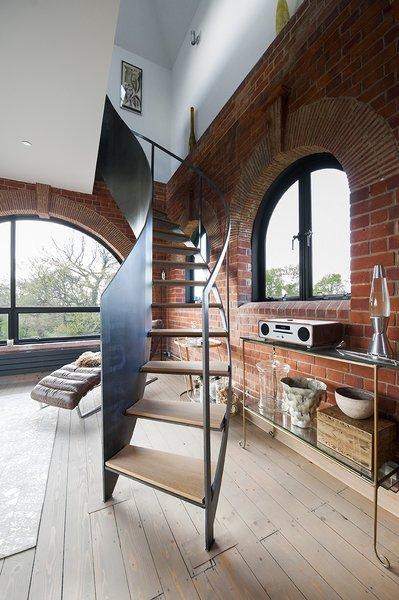 Littlehampton Welding made the steel staircase on the third floor.