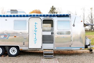 Designer and writer Lynne Knowlton revamped her 1976 Airstream with a playful edge.