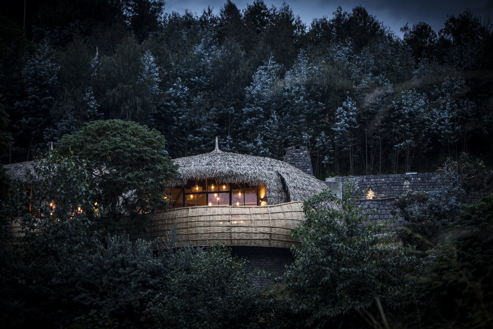 The forest villas were designed by South African architect Nick Plewman.  Photo 2 of 11 in Take an Eco-Escape to a Spherical Forest Villa in an Eroded Volcanic Cone in Rwanda