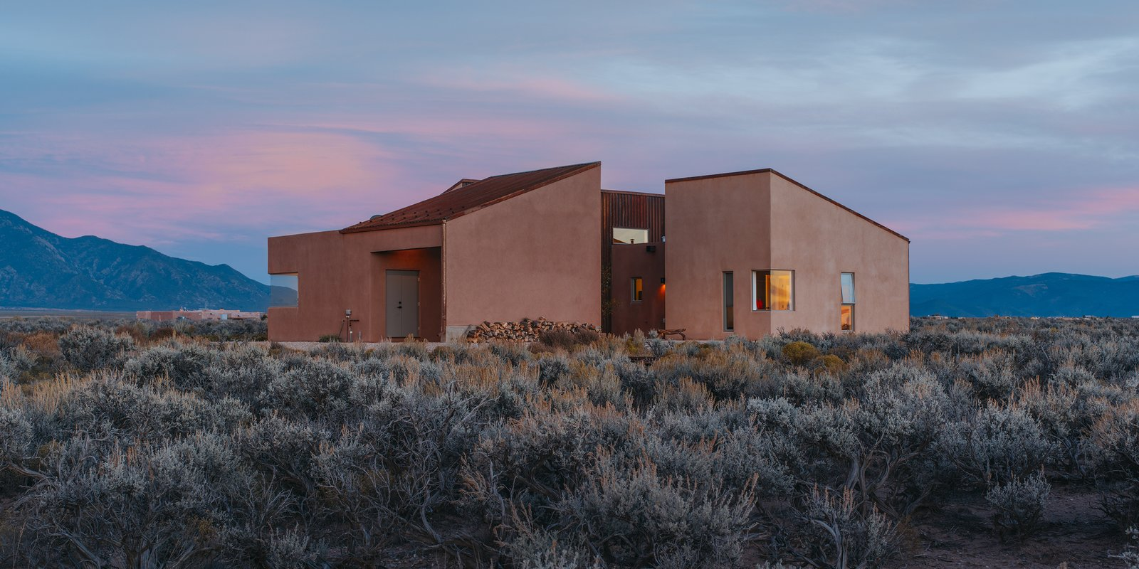 Outdoor, Shrubs, and Desert - Taos, New Mexico Dwell Magazine : July / August 2017  Outdoor Desert Photos from A Rookie Designer and Her Builder Father Create an Artist's Sculptural Loft in the Desert