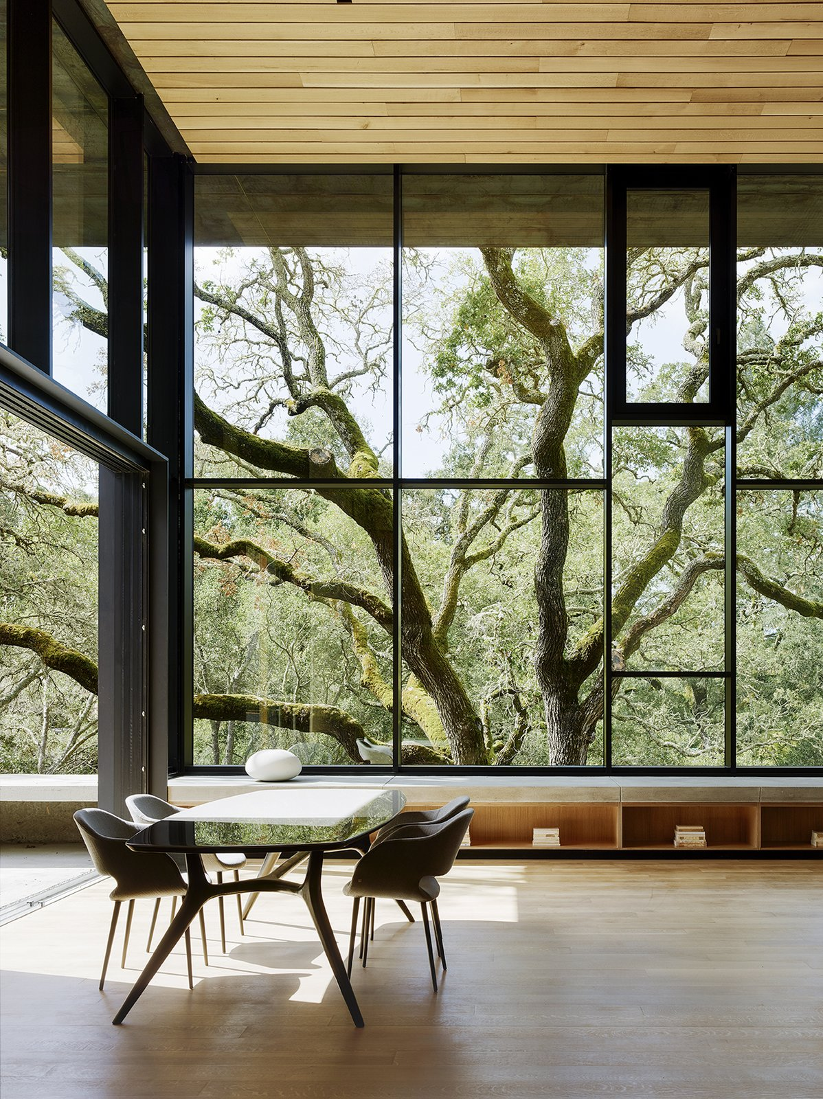 cor-ten steel home faulkner architects interior