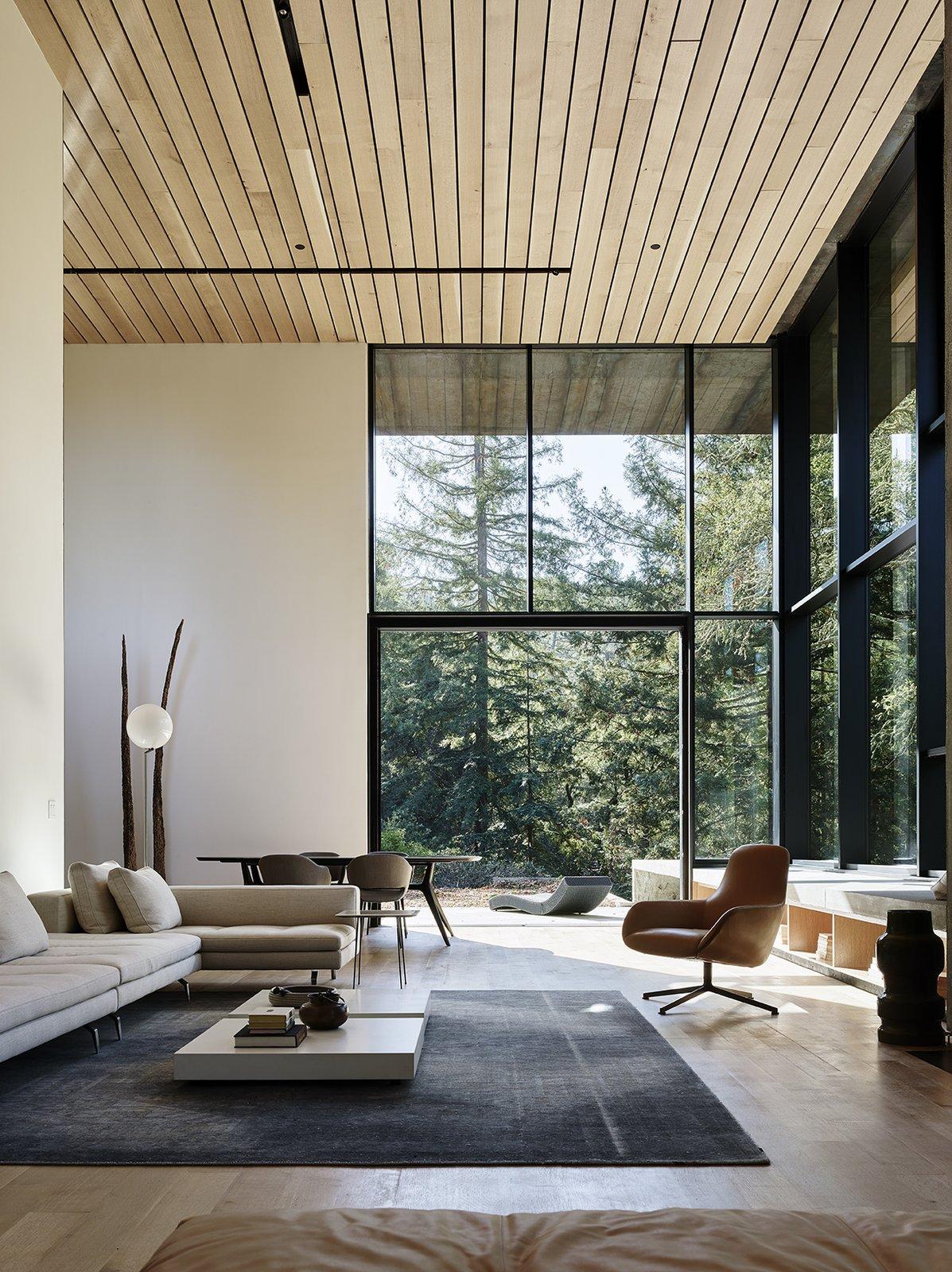 cor-ten steel home faulkner architects living room