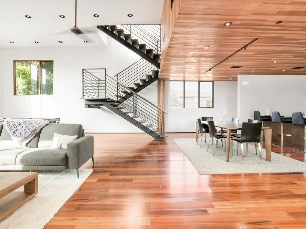 This beautiful 4,300-square-feet luxury loft offers high ceilings, lots of light, and a generous amount of space, making it perfect for planning a group vacation to Los Angeles.  Photo 4 of 12 in Experience L.A. Like an A-Lister at One of These Modern Short-Term Rentals