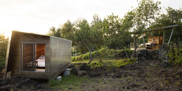 Two Tiny Pavilions Respectfully Perch Atop a Lava Flow on Maui