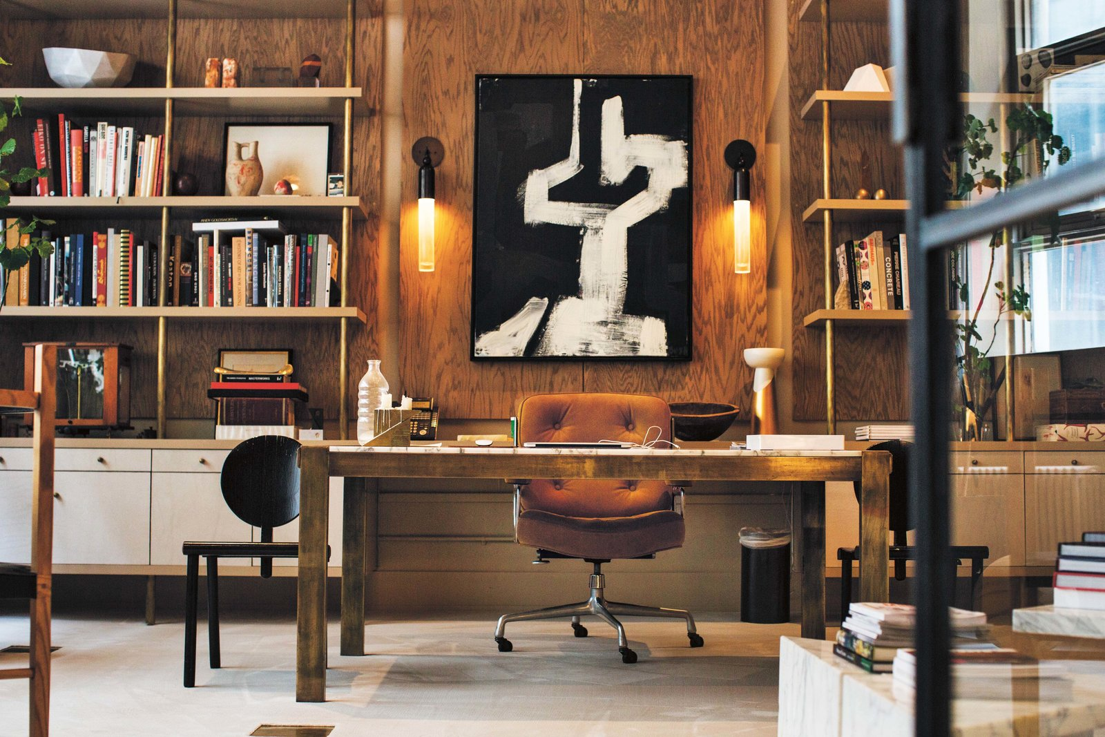 Office, Chair, Shelves, Storage, Bookcase, and Desk Gabriel Hendifar and Jeremy Anderson's home base in New York City.  Photo 9 of 10 in Meet 40 of the World's Most Creative Entrepreneurs With Kinfolk's New Book