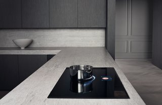 The Dacor Modernist Induction Cooktop features advanced induction technology with a mesmerizing VirtualFlame, preset cooking modes, and flexible cook zones controlled with the swipe of a finger.