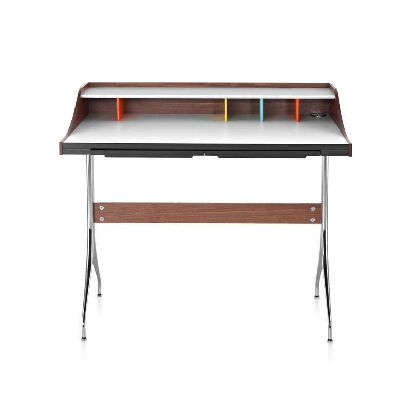 Carve out an office space for yourself with a modern, functional study desk.  Nelson Swag Leg Desk