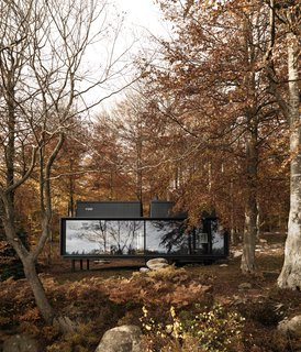 Danish brand Vipp allows guests to book design-forward rooms in the form of a lakeside prefab, an urban loft, and a converted industrial building.   Vipp got its start in 1939 with a pedal-controlled trash bin (a design that now sits among MoMA's permanent design collection). In 2015, the company introduced a prefab shelter, and now, it's branching out again—this time into the hospitality industry with the opening of the Vipp hotel.