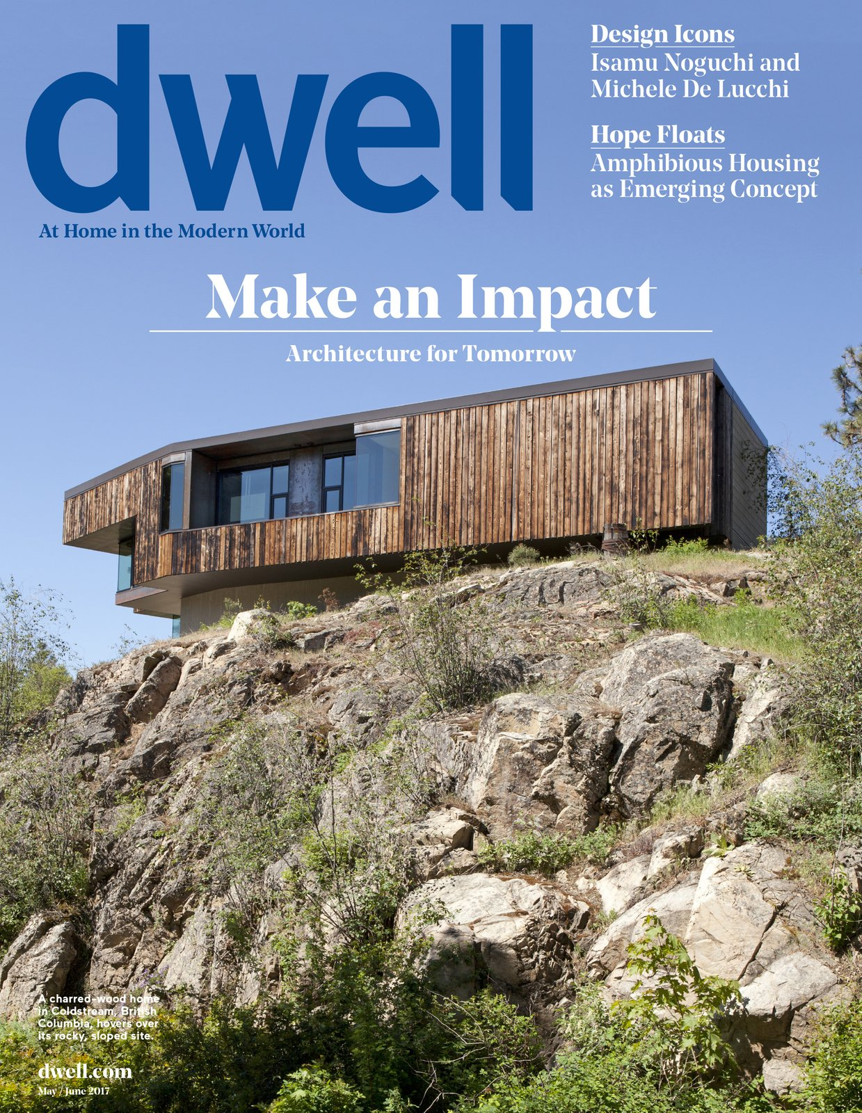 Exterior, House Building Type, Wood Siding Material, Flat RoofLine, and Metal Roof Material The cover of the May/June 2017 issue.  Photo 2 of 5 in Check Out Letters and Feedback from Our Latest Issue