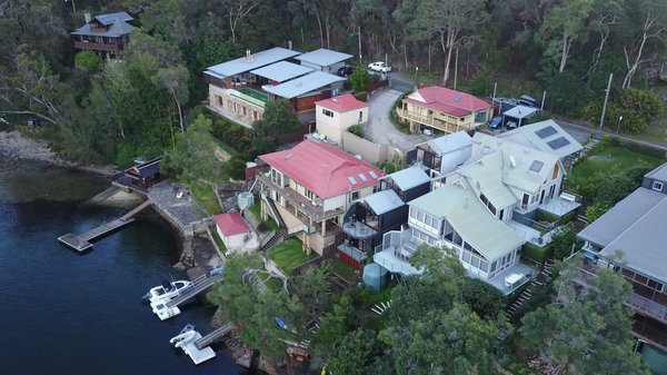 Only a Drone Could Capture How This House Fits on a Lot That's Less Than 20 Feet Wide