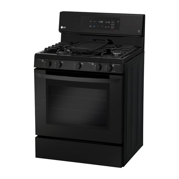 Matte-black  stainless steel  gas single-oven range by LG  $1,249   LG's large-capacity oven boasts a fingerprint- and smudge- resistant finish, as well as intuitive glass controls that are as easy to operate as they are  to wipe clean.  Photo 4 of 32 in Watch Out For These Two Kitchen and Bath Trends in 2018