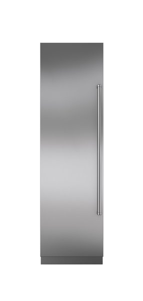 """24"""" integrated  column refrigerator  and freezer by  Sub-Zero  $6,665  With a refrigerator and freezer hidden behind one solid door, Sub-Zero's 24-inch combination column looks sleek while fitting in  the tightest nooks.  Photo 17 of 32 in Watch Out For These Two Kitchen and Bath Trends in 2018"""