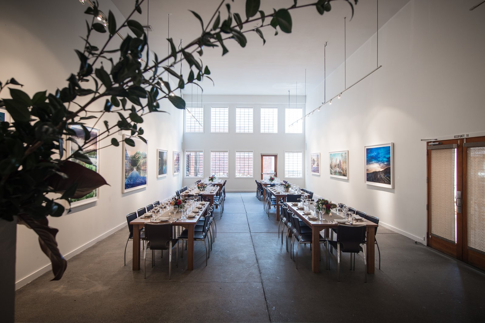 Dining, Track, Accent, Table, Concrete, Chair, and Pendant Foreign Cinema, San Francisco  Best Dining Accent Track Photos from 10 Modern Wedding Venues That Will Make Your Big Day Unforgettable