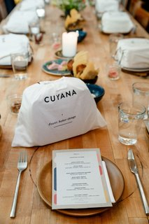 Dwell and Cuyana hosted an intimate dinner to celebrate the organizing master's new mini capsule collection.