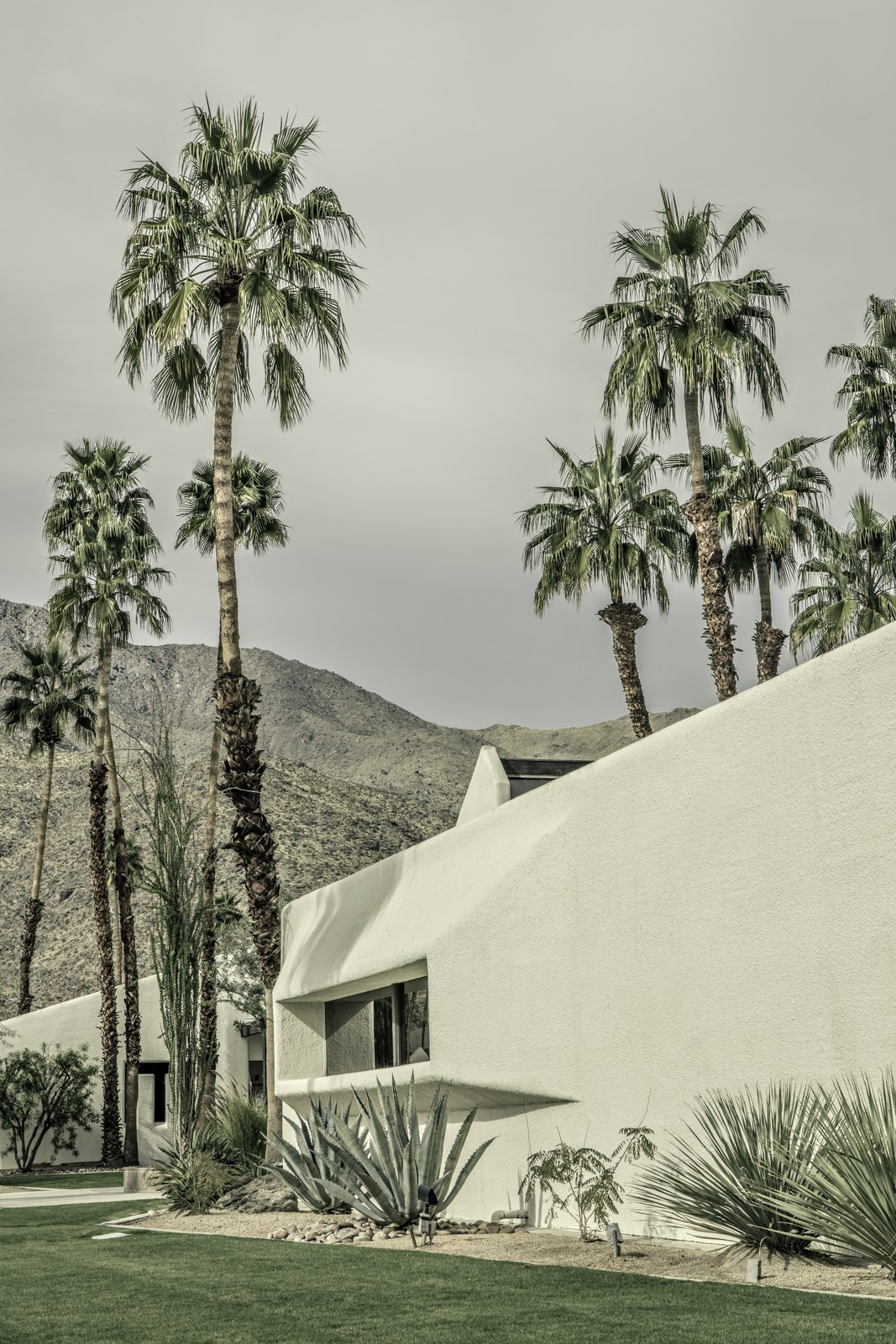 Exterior, Mid-Century Building Type, and House Building Type Last year, Tahquitz Plaza, a business complex Kaptur designed in the 1970s, underwent a restoration, which he helped oversee.  Photo 4 of 9 in Photo Essay: Revisit the Midcentury Classics of Palm Springs and Beyond