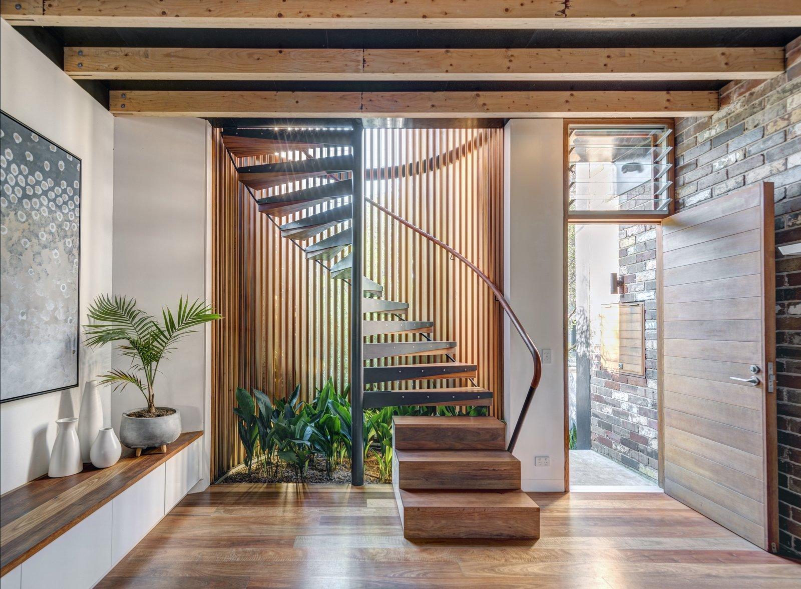 cedar spiral staircase