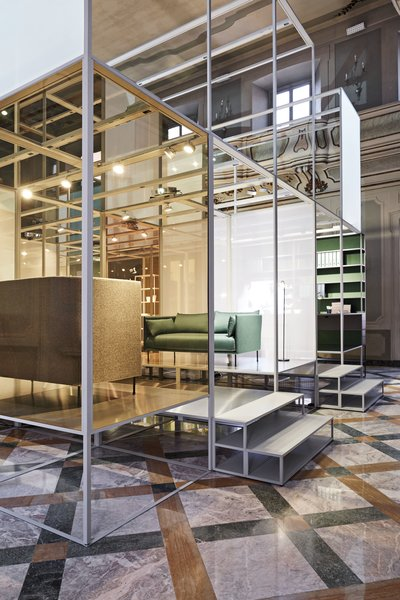 WeWork, Hay, and Sonos took over the Palazzo Clerici and filled it with living and working environments.