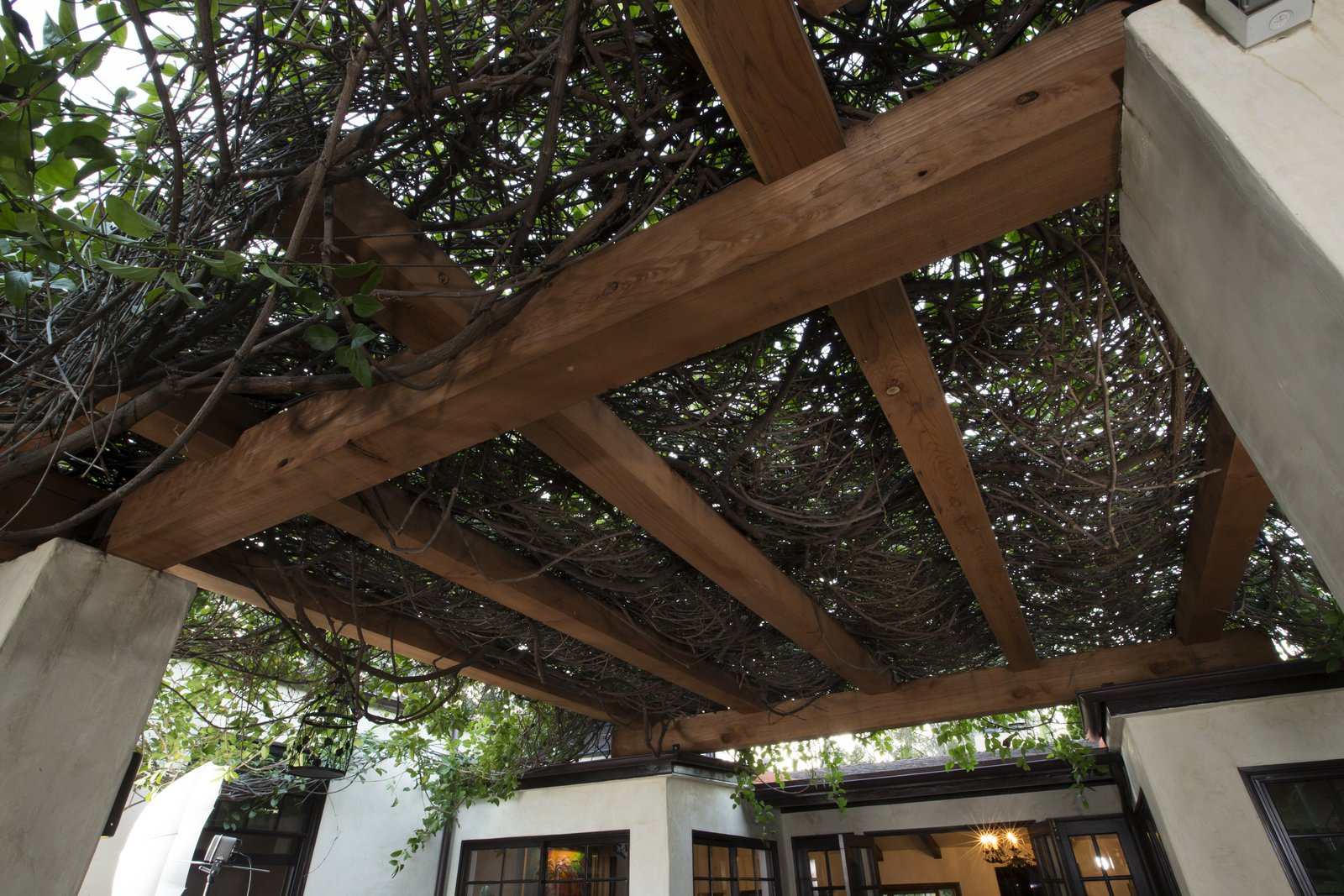 Outdoor The updated pergola celebrates this Rancho-style home's classic Hollywood Hills history.  Photo 6 of 6 in This Stunning Redwood Pergola Brings Classic Charm to its Hollywood Hills Home