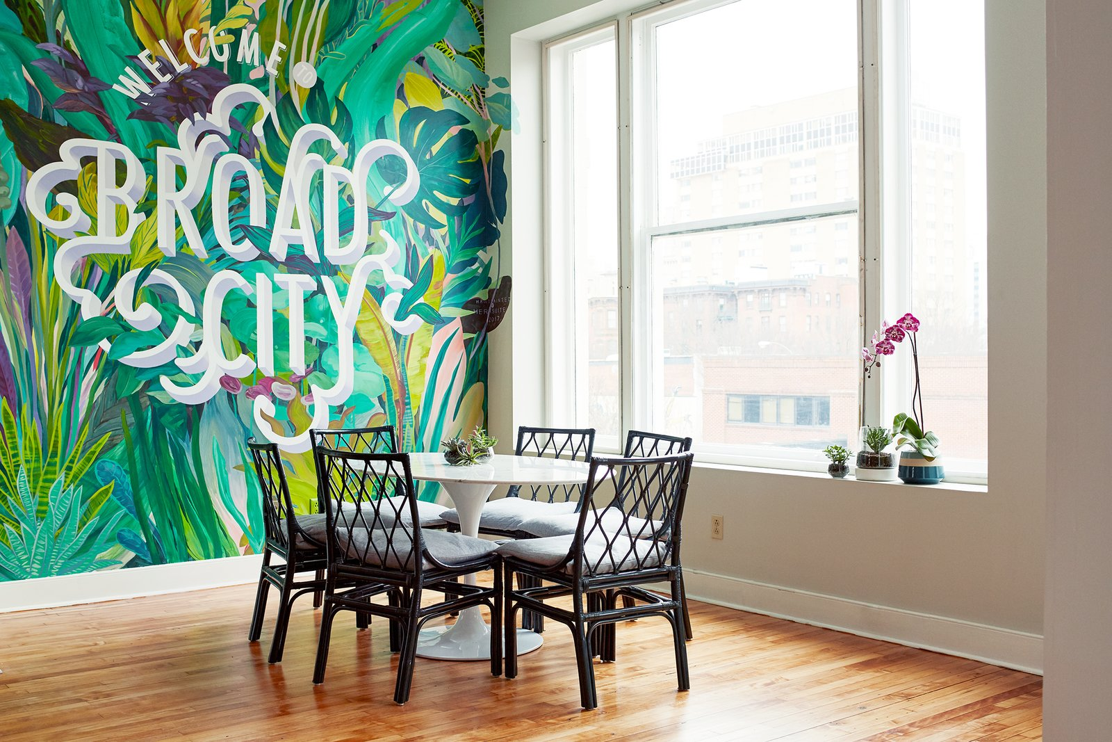 Furnishings and decor throughout The Broad are feminine, but not overly girly.  Photo 11 of 17 in 6 Co-Working Clubs Catered to Women That Radiate Good Vibes and Beautiful Designs