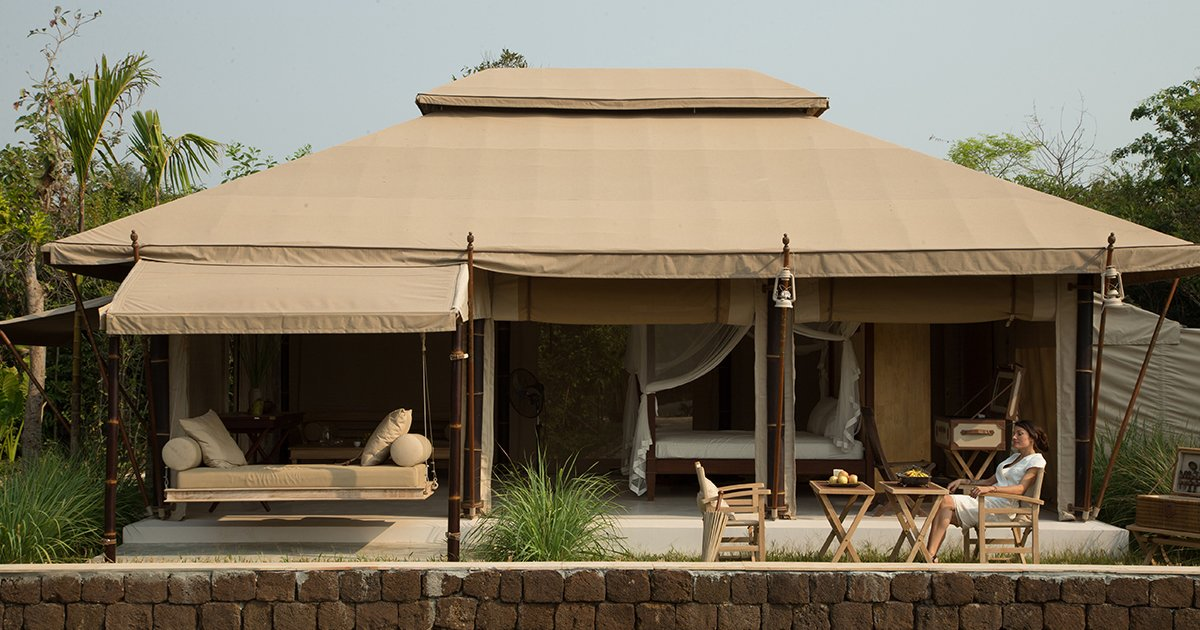 Exterior and Tent Building Type The Beige in Siem Reap, Cambodia  Photo 8 of 12 in 12 Epic Hotels That Take Glamping to the Next Level from The Beige