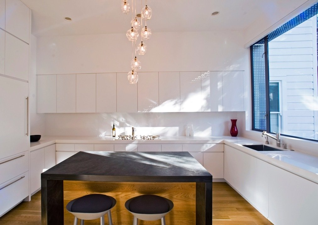 Architect Todd Davis works on mostly modern projects, and likes the monotone color options and clean lines of Caesarstone quartz.  Best Photos from 4 Reasons Designers Rely on Quartz, Time and Again