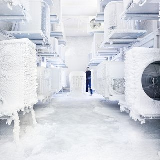 Every week, it snows in the Trane lab, just one of many tests the HVAC systems endure to make sure they're ready for market.