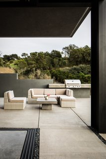 The patio furniture  is from CB2.