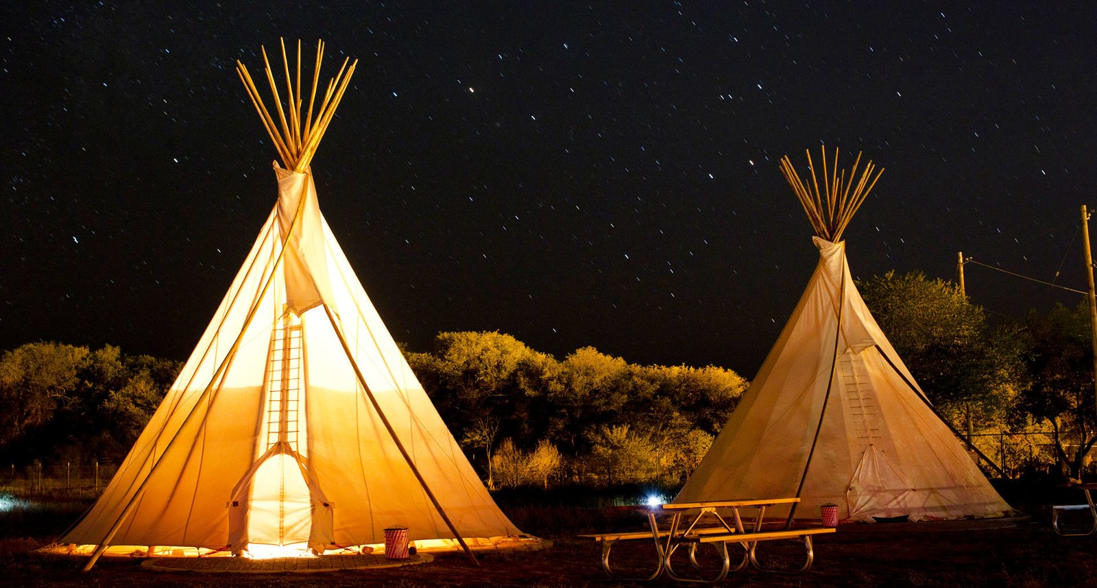 Exterior and Tent Building Type El Cosmico in Marfa, Texas  Photo 12 of 12 in 12 Epic Hotels That Take Glamping to the Next Level from El Cosmico