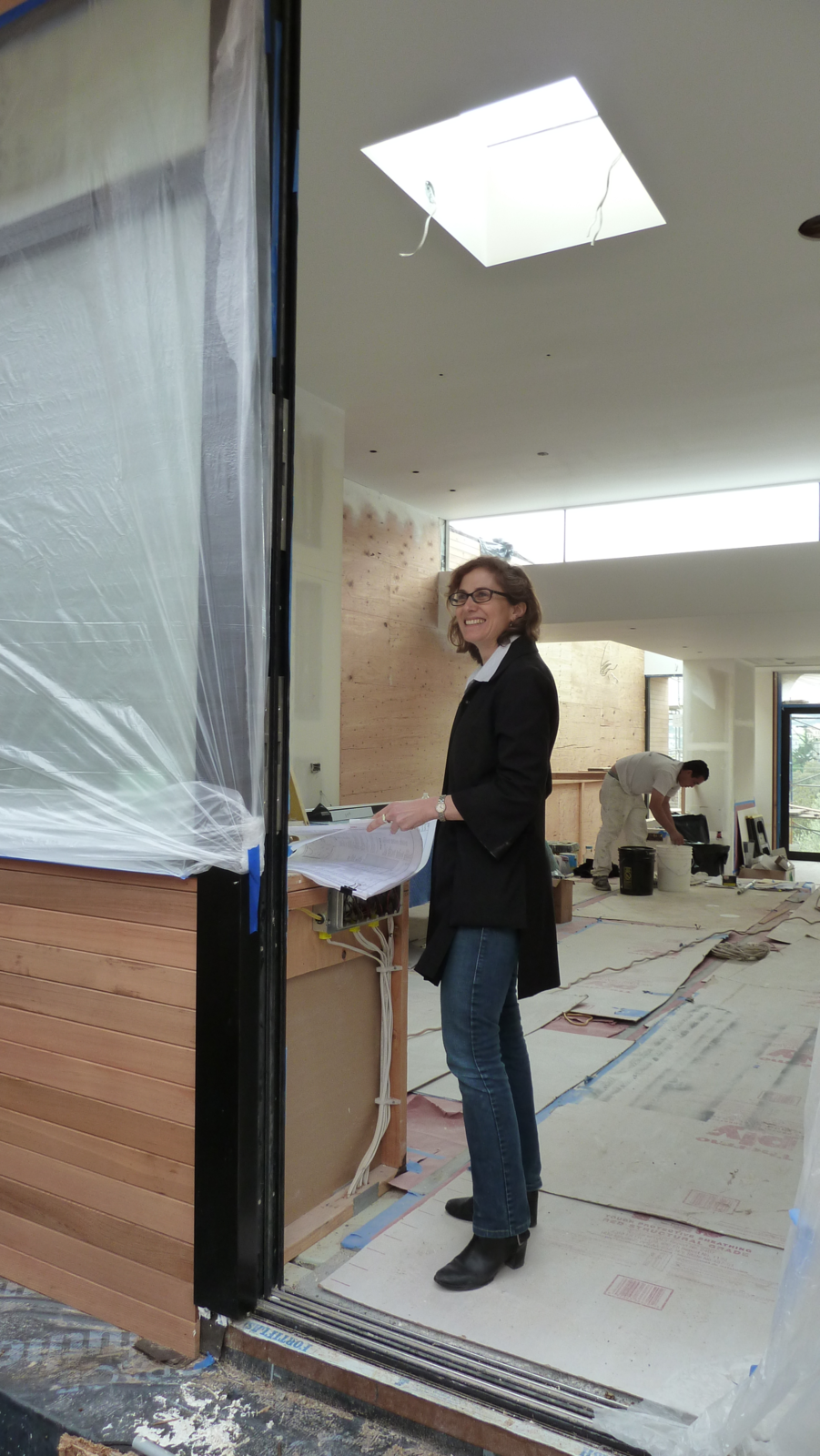 Cary Bernstein flashes a smile at the site of Hill House.  Photo 4 of 6 in Building 101: How to Navigate the Architect-Contractor-Client Relationship