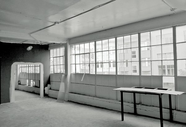Before: The garage's condition was such that only its concrete walls and beams could be salvaged. It would take five years to transform the 9,000-square-foot, two-level structure.