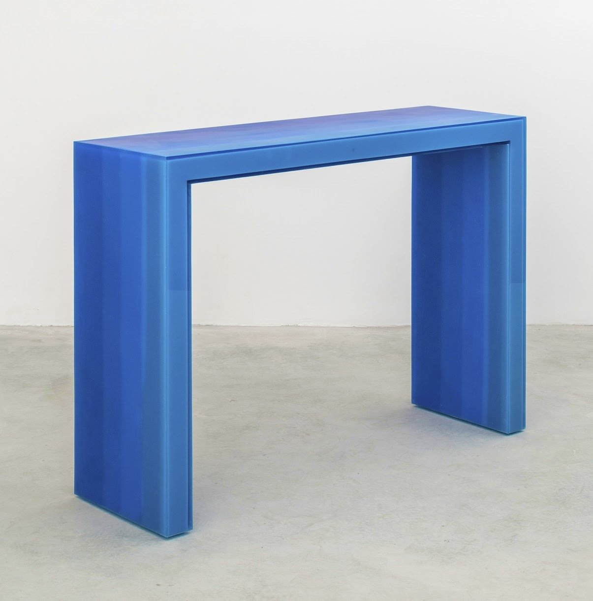 Living Room and Console Tables Blue gradient console.  Photo 2 of 5 in Dwell 24: Quincy Ellis