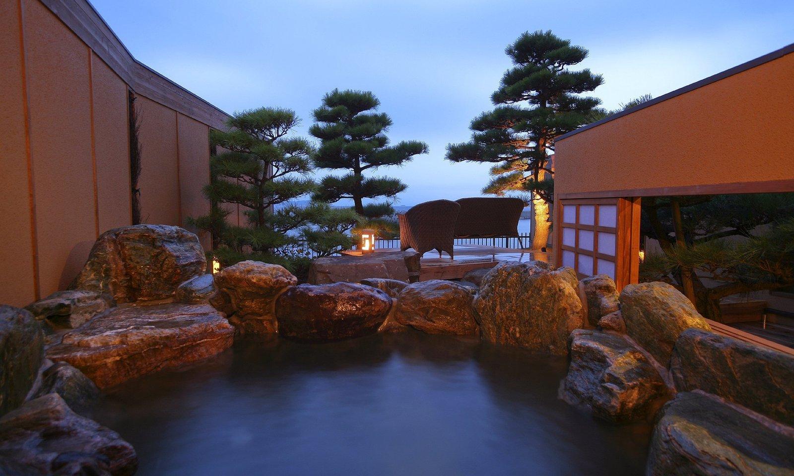 Outdoor, Trees, and Boulders Villa Rakuen in Hyogo, Japan  Villa Rakuen