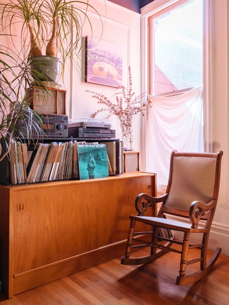 Windy's record collection recalls her days as the owner of Aquarius Records.