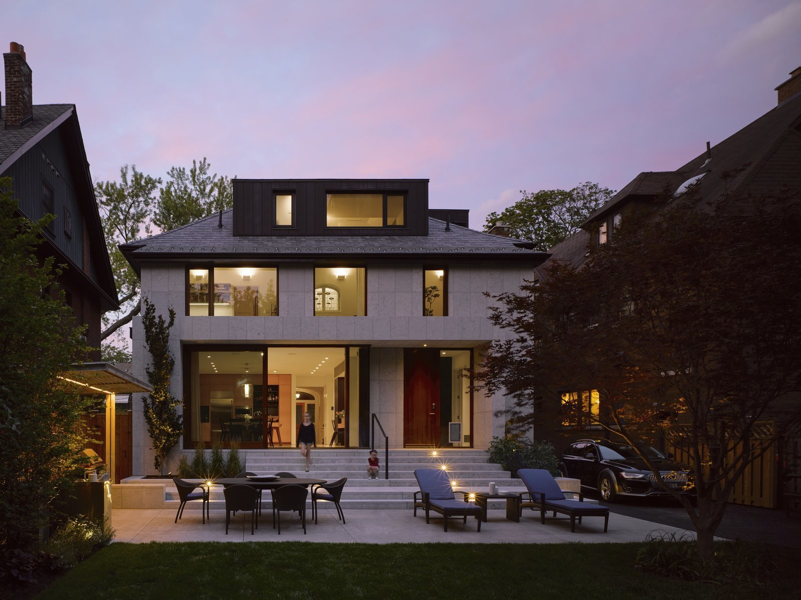 Exterior, Hipped, House, Stone, and Shingles Madrigal House by Paul Raff Studio integrates modern and Edwardian touches.  Best Exterior Shingles Hipped Photos from An Elegant Edwardian Home Is Treated to a Thoughtful Revamp