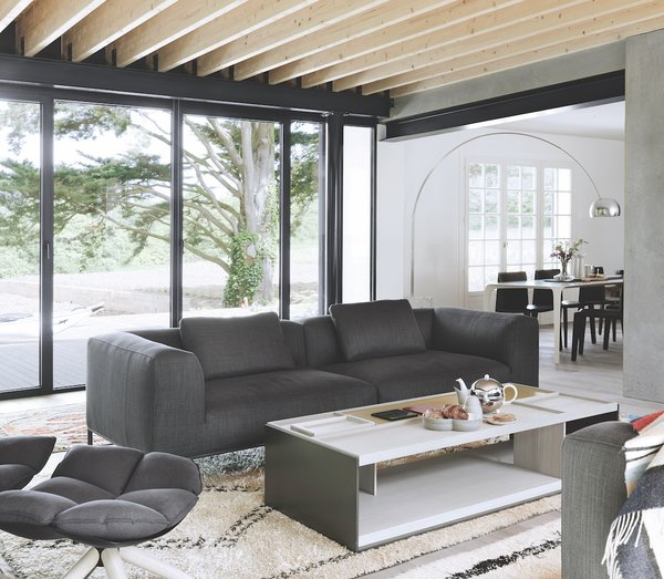In The Living Room, A Bu0026amp;B Italia Sofa And Chair And Arco Floor