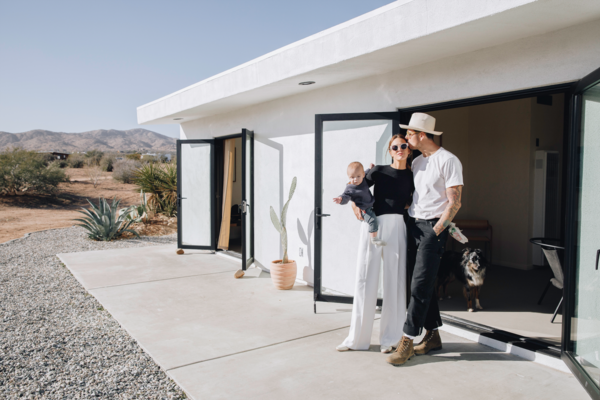 The couple welcome visitors to Casa Mami, a thoughtfully curated, secluded desert getaway.