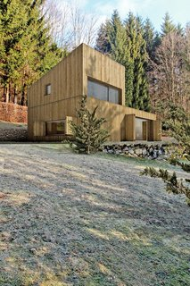 Matika Architecture's mountain hut is located in the mountains of Slovakia