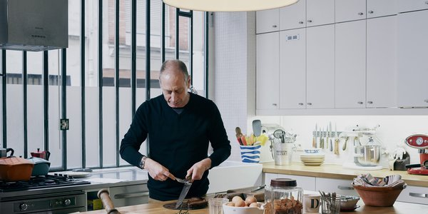 David Lebovitz in his Paris kitchen