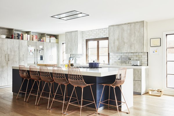 """French-born chef, TV personality, and pop-up wizard Ludo Lefebvre says of his kitchen, """"My life is based around cooking 24/7' so making the kitchen the star of our house was really the only choice. Our previous kitchen was tiny' and with two small children it became almost dangerous at times: too many people' not enough space. I wanted an open area where family and friends could be part of the experience but also have breathing room."""""""