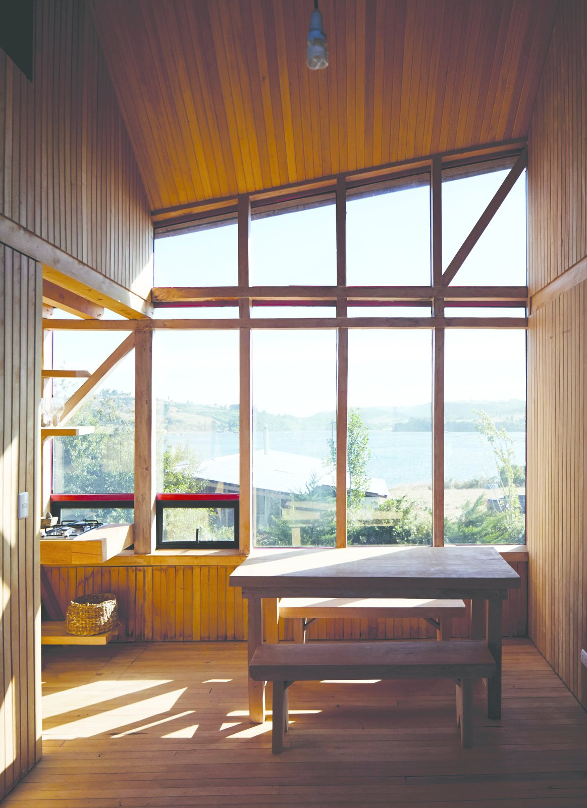 Isla Lebe cabin dining area