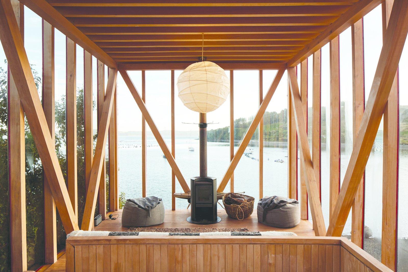 Isla Lebe cabin living area
