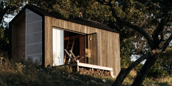 A Tech Professional Heads to Texas and Builds a Tiny Off-the-Grid Cabin for $25K